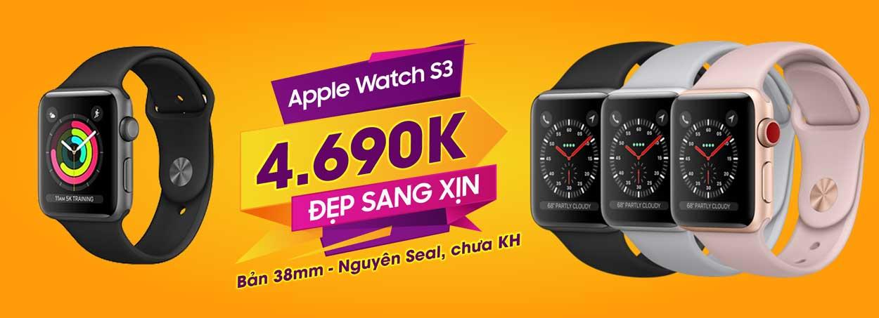 Apple Watch S3 mới chưa KHApple Watch S3 mới chưa KH